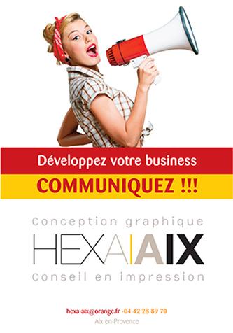 creation et impression d'un flyer a Aix-en-Provence