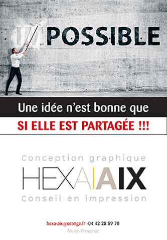 création et impression de flyer publicitaire Aix en Provence