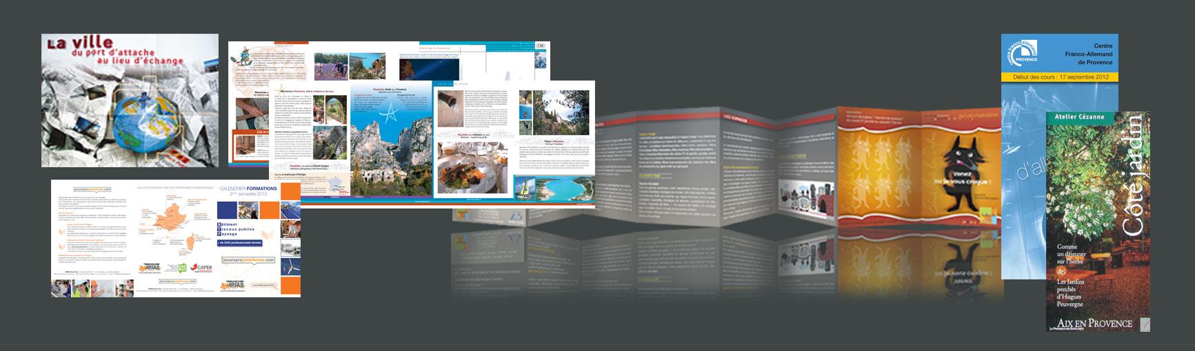 design graphique et impression de dépliants plaquettes d'entreprise