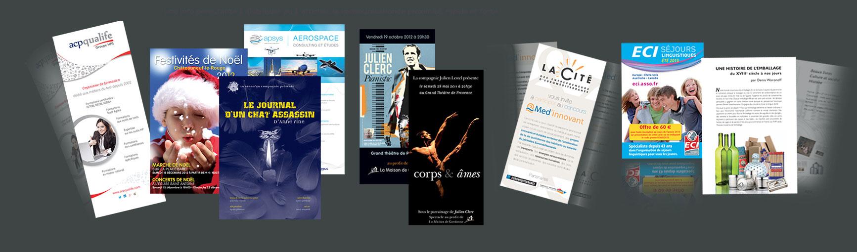 création et impression d'affiches de flyers publicité a aix en provence et autour