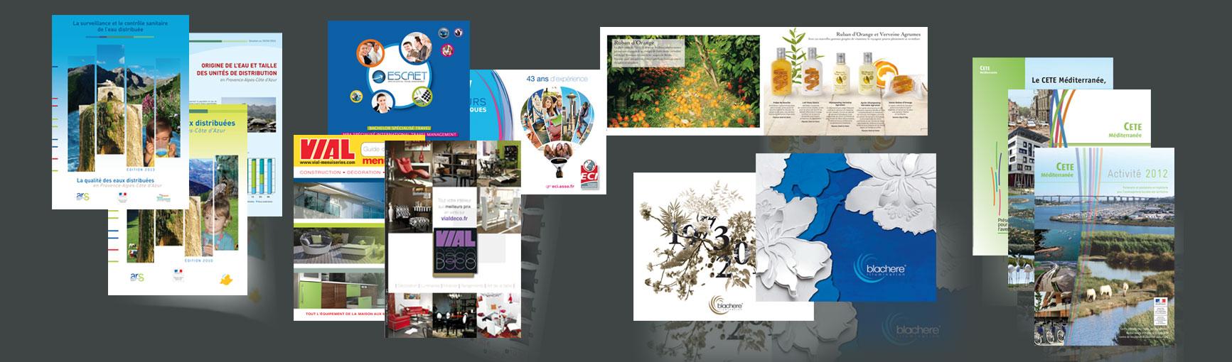 conception graphique de brochures sur aix en provence