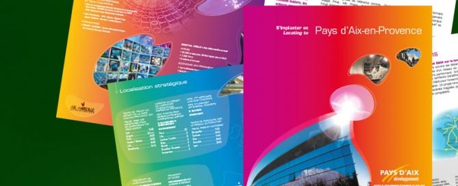Brochure du Pays d'Aix-en-Provence - Impression Hexa-Aix à Aix-en-Provence