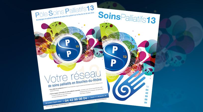 creation graphique et impression affiches Pôle Soins Palliatifs13 par HEXA AIX