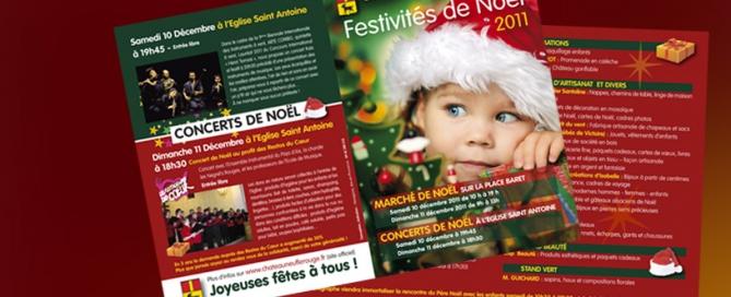 création graphique dépliant pour la mairie de Châteauneuf-le-Rouge par HEXA AIX