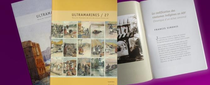 Ultramarine - revue de l'Association des amis des archives d'outre-mer HEXA AIX conception et impression