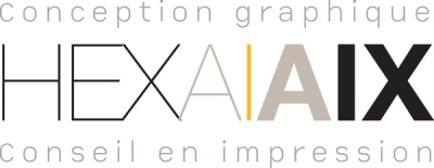 Hexa Aix une agence de communication à Aix en provence Mobile Retina Logo