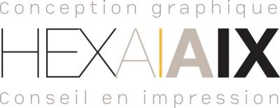 Hexa Aix une agence de communication à Aix en provence Retina Logo