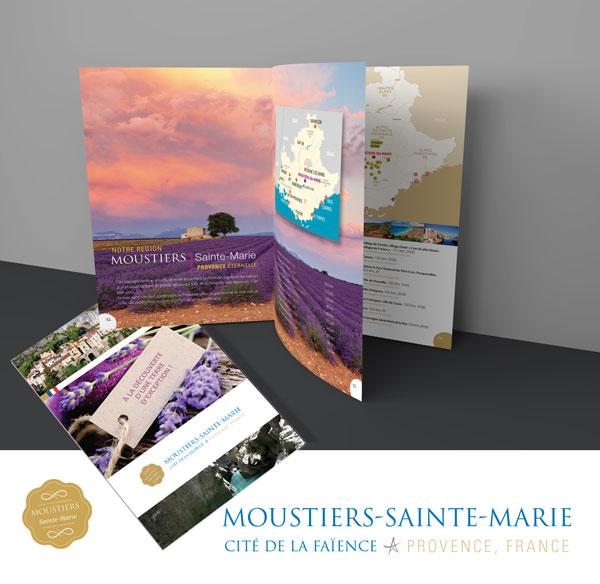Création graphique des brochures de Moustiers